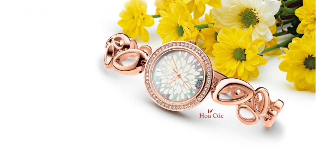 Đồng hồ hàng hiệu lấy cảm hứng từ hoa cúc