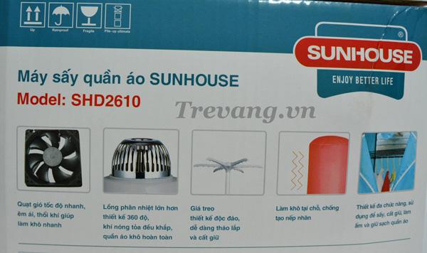 Máy sấy quần áo Sunhouse SHD2610 khô quần áo nhanh