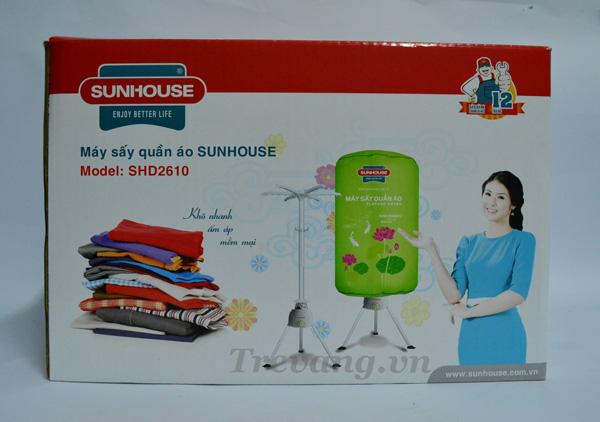 Máy sấy quần áo Sunhouse SHD2610 Hàn Quốc vỏ hộp