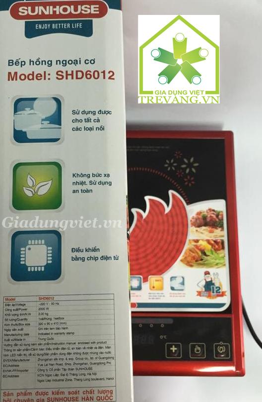 Bếp hồng ngoại cơ Sunhouse SHD6012 thông tin kỹ thuật.