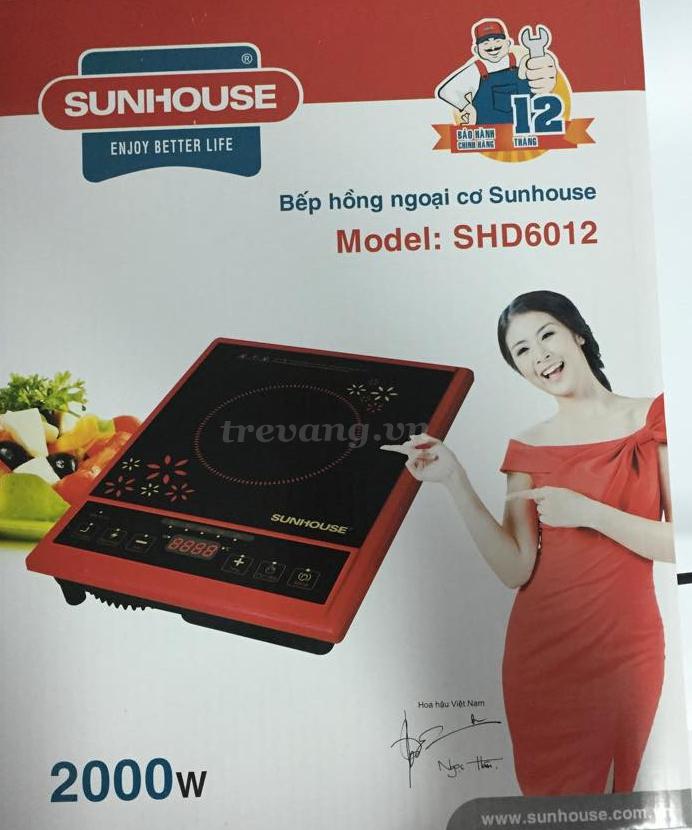 Bếp hồng ngoại cơ Sunhouse SHD6012 hộp đựng sản phẩm