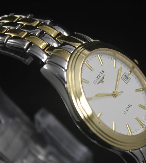 Đồng hồ Longines L4.774.3.00.5 Quartz mặt trắng vỏ mạ vàng