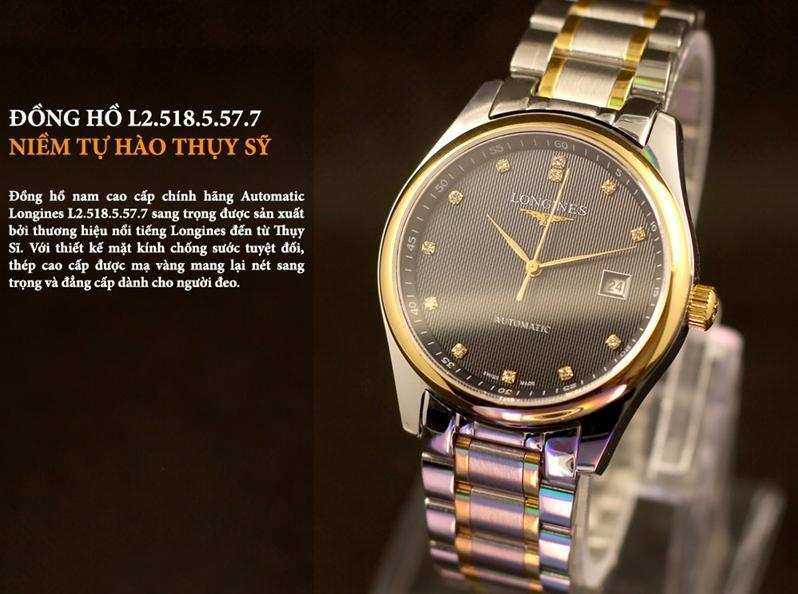 Đồng hồ Longines L.2.518.5.57.7 Thuỵ Sỹ