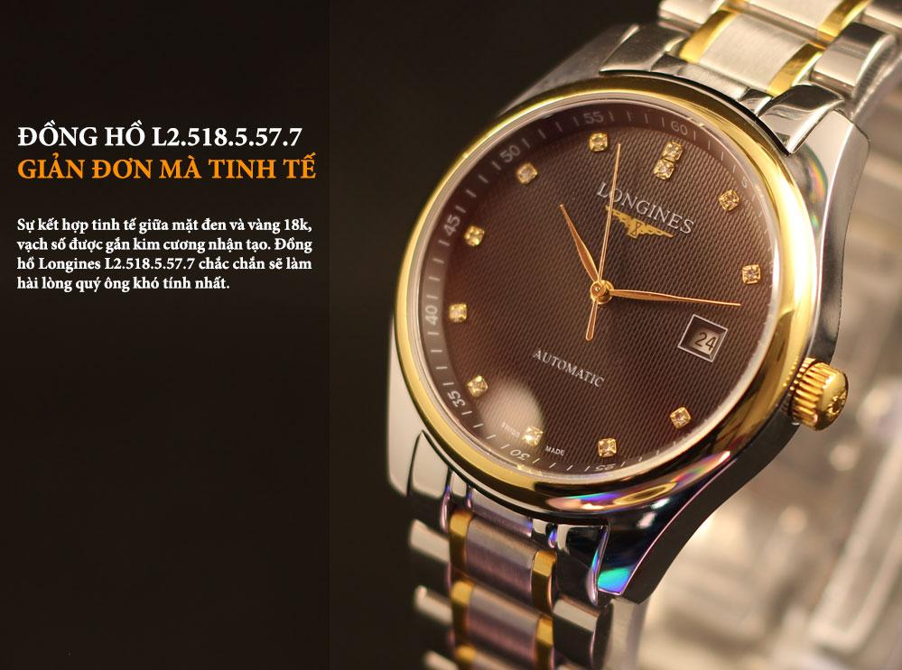 Đồng hồ Longines L.2.518.5.57.7 sang trọng, đẳng cấp