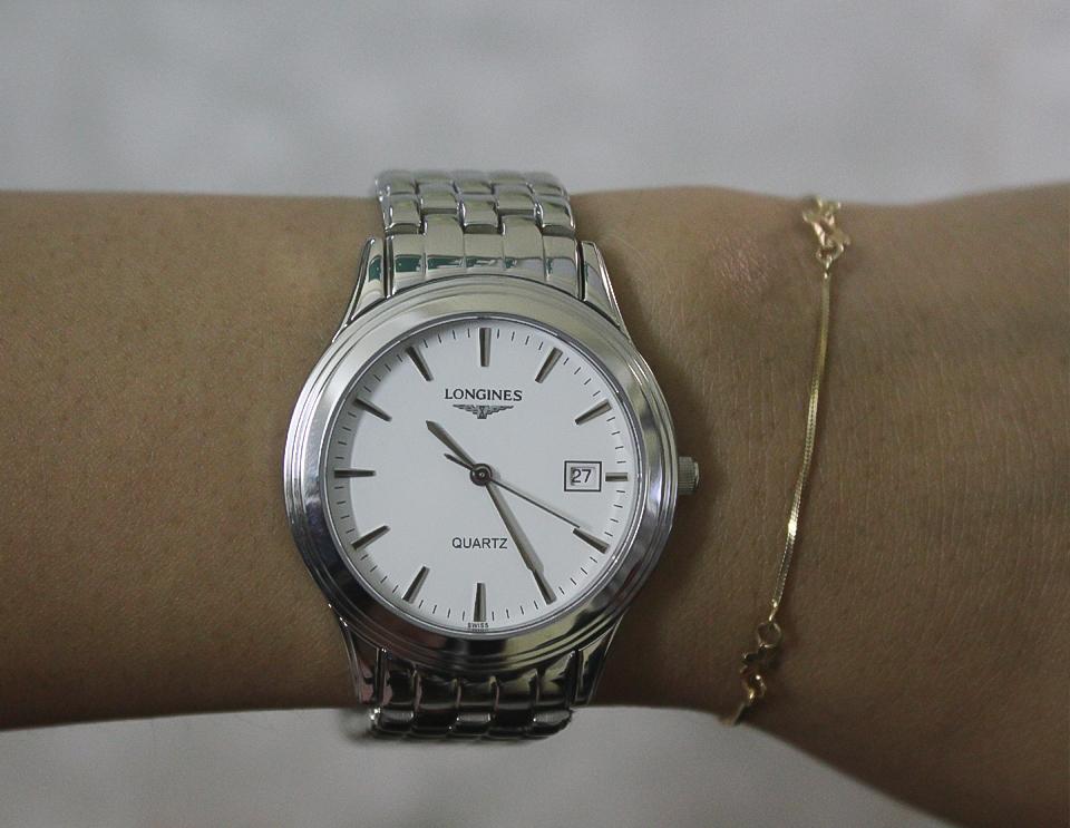 Đồng hồ Longines L4.774.3.00.9 trên tay