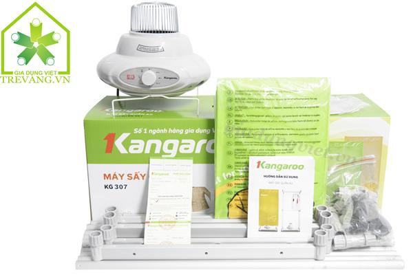 Máy sấy quần áo Kangaroo KG307 trọn bộ
