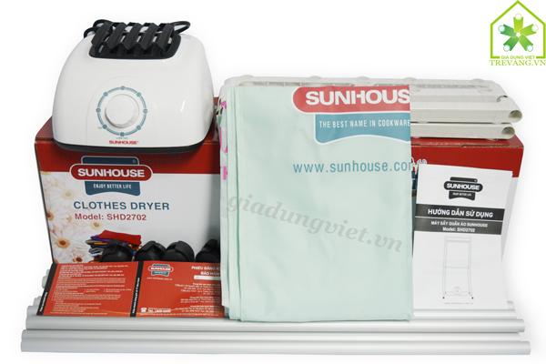 Máy sấy quần áo Sunhouse SHD2702 trọn bộ