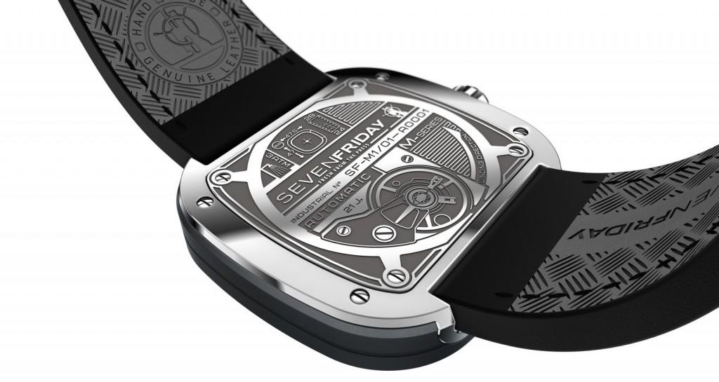 Đồng hồ Sevenfriday M1-1 thiết kế mặt sau