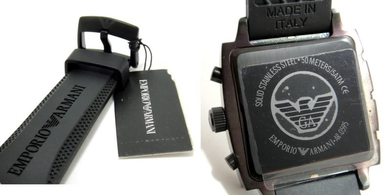 Đồng hồ Armani AR0595 nam thiết kế mặt sau