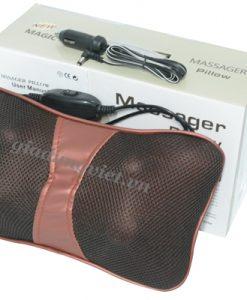 Gối massage hồng ngoại Magic NPL-818 giảm đau nhức vai cổ gáy