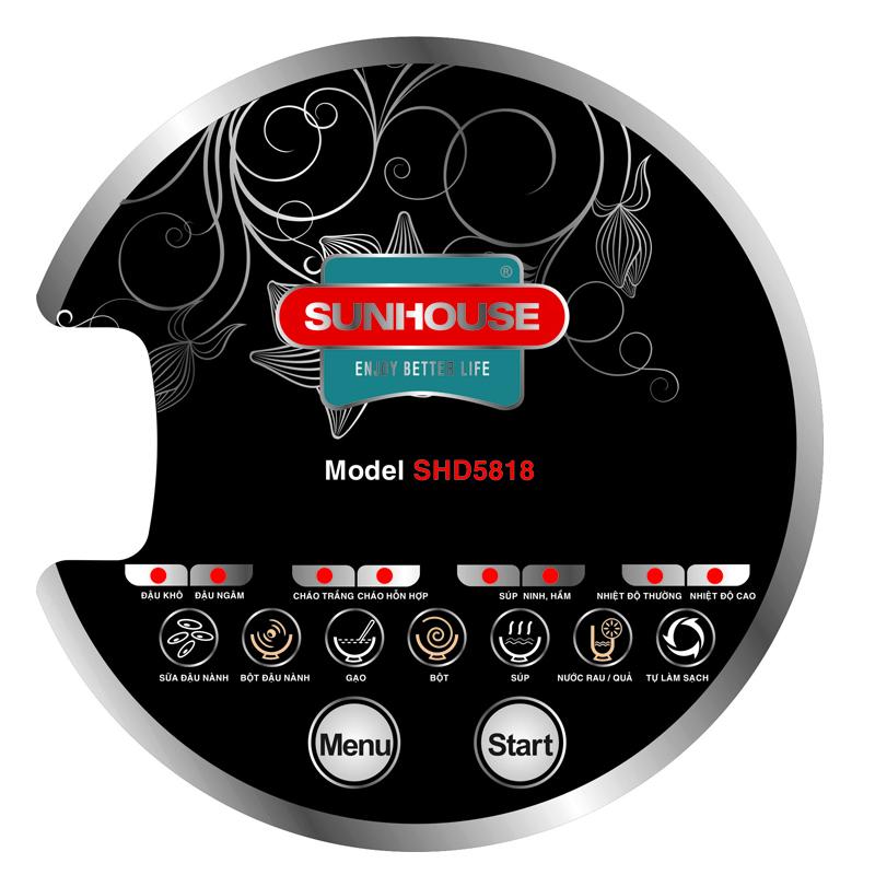 Máy làm sữa đậu nành Sunhouse SHD5818 bảng điểu khiển