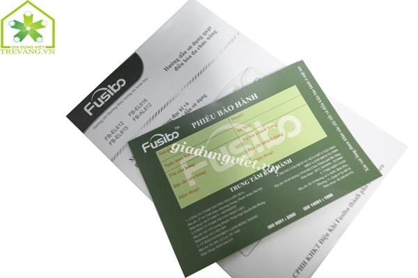 Quạt hơi nước Fusibo FB-EL815 hướng dẫn dùng và thẻ bảo hành