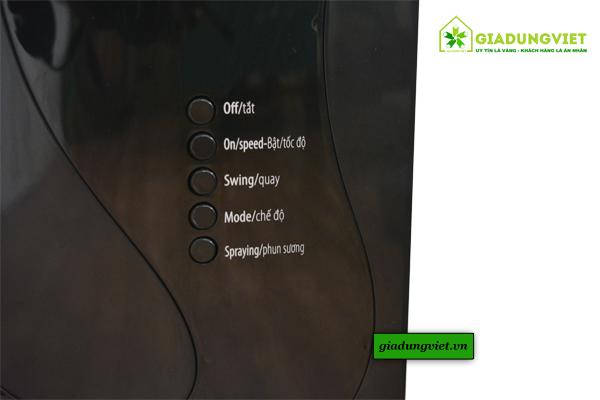 thuật Quạt hơi nước Sunhouse SHD7802 bảng điều khiển