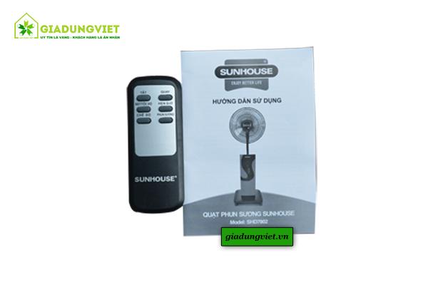 thuật Quạt hơi nước Sunhouse SHD7802 điều khiển từ xa