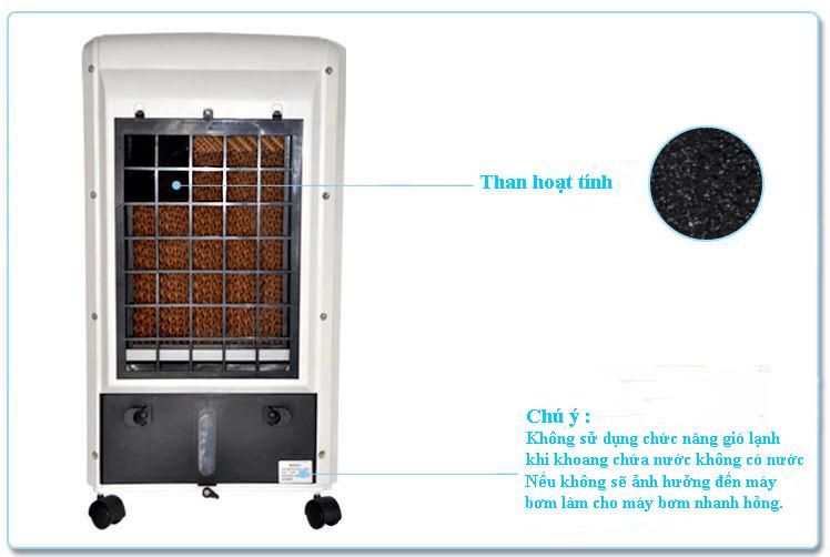 Quạt hơi nước Fusibo FB-EL612 than hoạt tính lọc khí