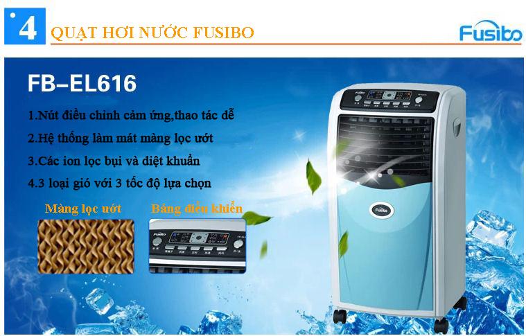 Quạt hơi nước Fusibo FB-EL616 đa năng, hiện đại