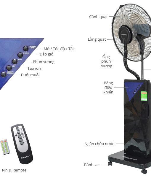 Quạt hơi nước kangaroo kg57s
