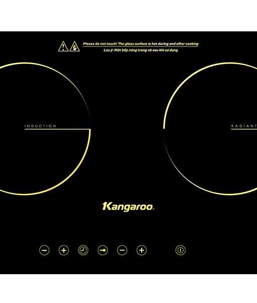 Bếp đôi Kangaroo KG496i 1 từ 1 hồng ngoại