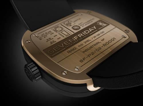 Đồng hồ Sevenfriday P2-2 chi tiết mặt sau