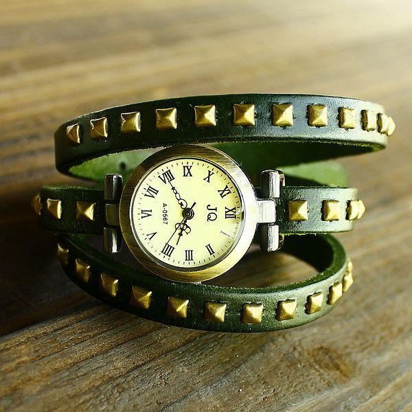 Đồng hồ nữ dây da mạ đồng