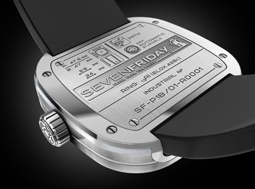 Đồng hồ Senvenfriday P1B-1 thiết kế mặt sau