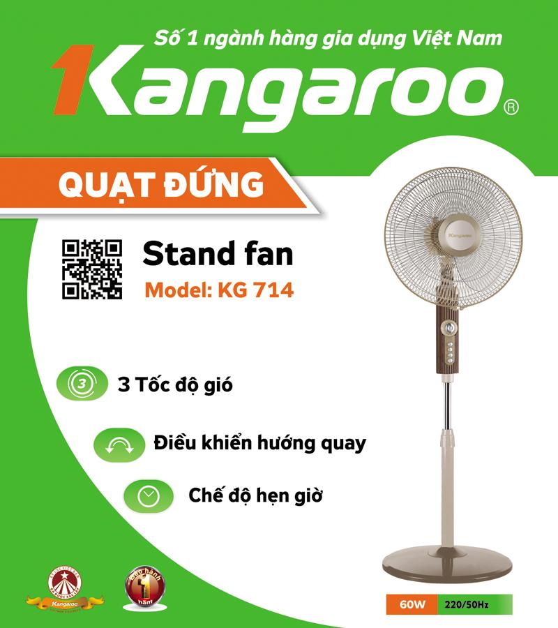 Quạt cây Kangaroo KG714 dáng thân cao