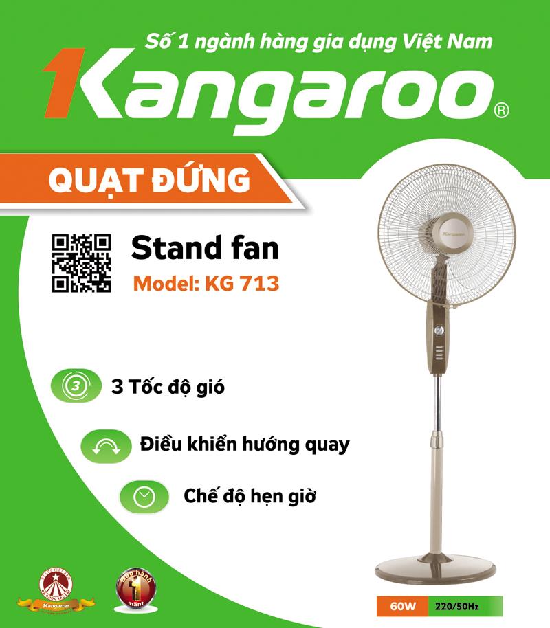 Quạt đứng Kangaroo KG713