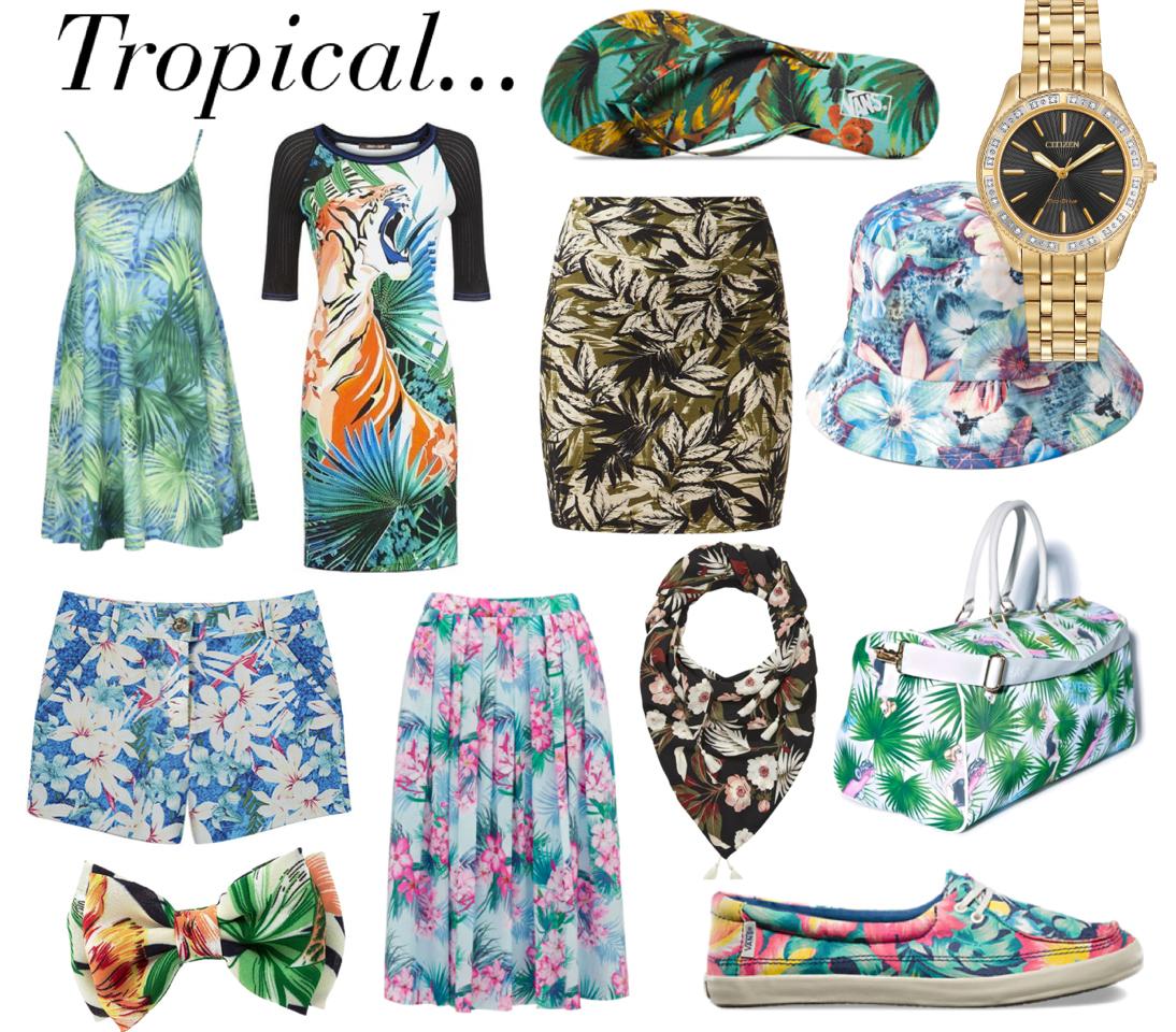 xu hướng thời trang mùa xuân 2015 với đồng hồ Citizen nhiệt đới