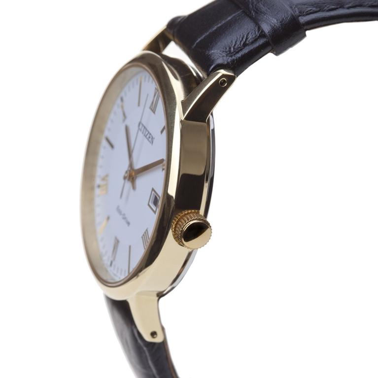 Đồng hồ Citizen EW1282-03A nữ với núm chỉnh giờ