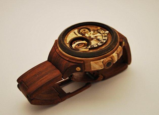 Đồng hồ đeo tay nam bằng gỗ chế tác tỉ mẩn