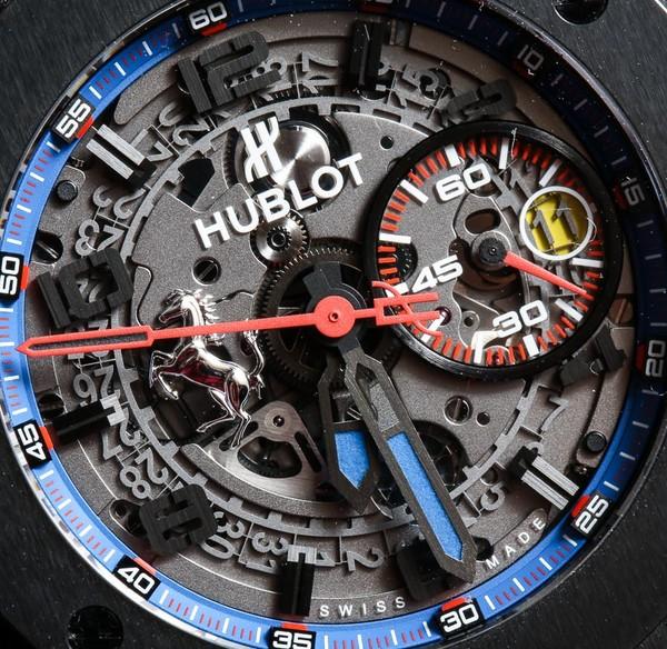 Đồng hồ Hublot Big Bang Ferrari cận mặt