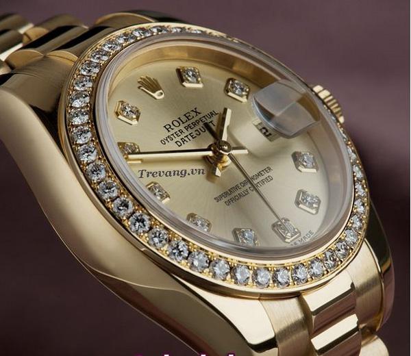 Đồng hồ Rolex Datejust Full Gold Diamond bề mặt