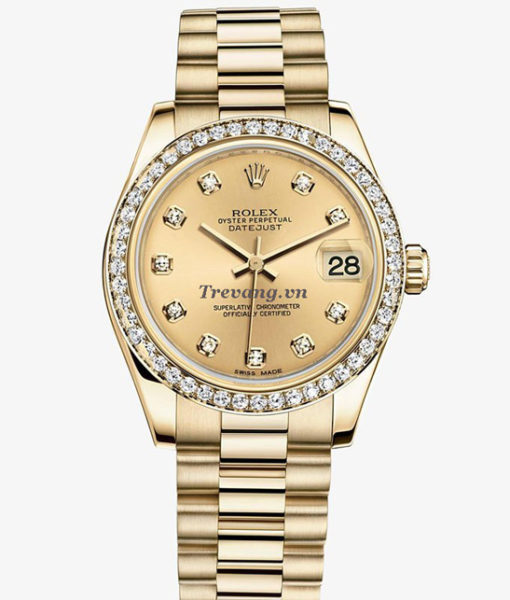 Đồng hồ Rolex Datejust Full Gold Diamond đẳng cấp