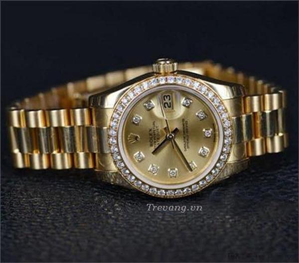 Đồng hồ Rolex Datejust Full Gold Diamond nam mạ vàng PVD