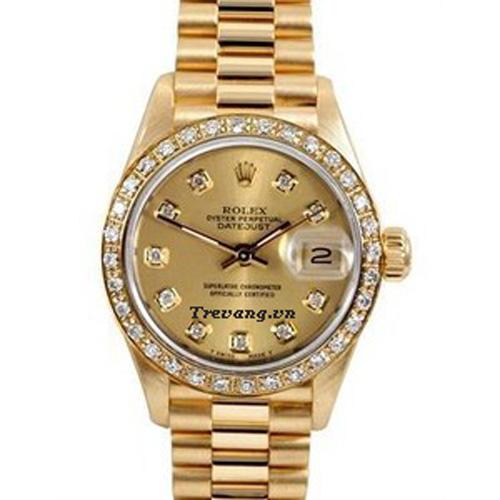Đồng hồ Rolex Datejust Full Gold Diamond nam sang trọng