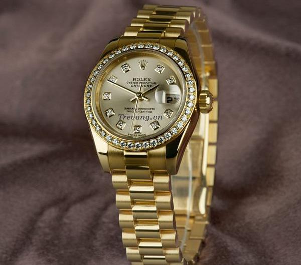 Đồng hồ Rolex Datejust Full Gold Diamond sang trọng