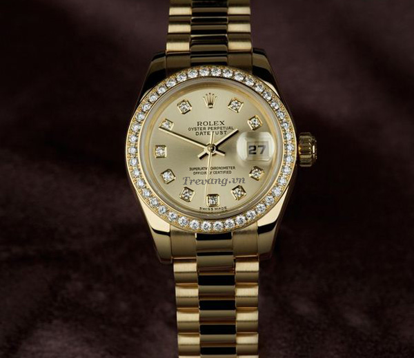 Đồng hồ Rolex Datejust Full Gold Diamond