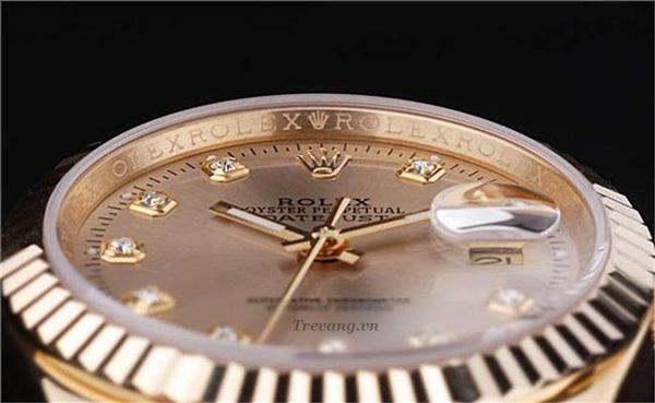 Dong ho Rolex Datejust full gold mat so