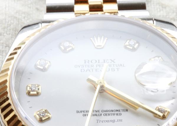 Đồng hồ Rolex nam Datejust Demi mặt trắng