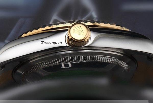 Đồng hồ Rolex Datejust Demi núm chỉnh dập logo