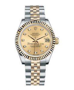 Đồng hồ Rolex Datejust Demi mặt vàng sang trọng