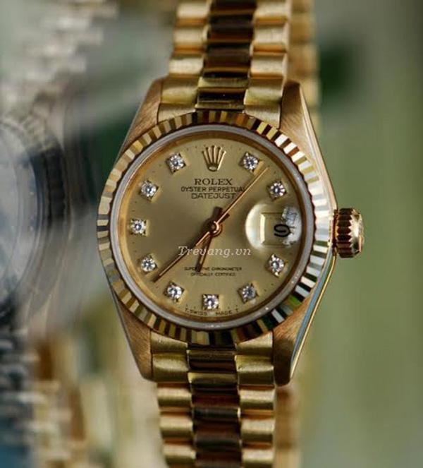 Đồng hồ Rolex Datejust full gold kính Cyslops EYE