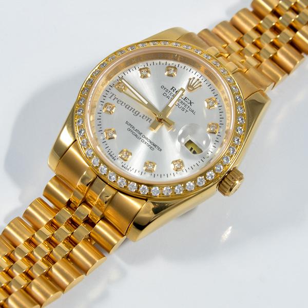 Đồng hồ Rolex nam Datejust full gold Thuỵ Sỹ