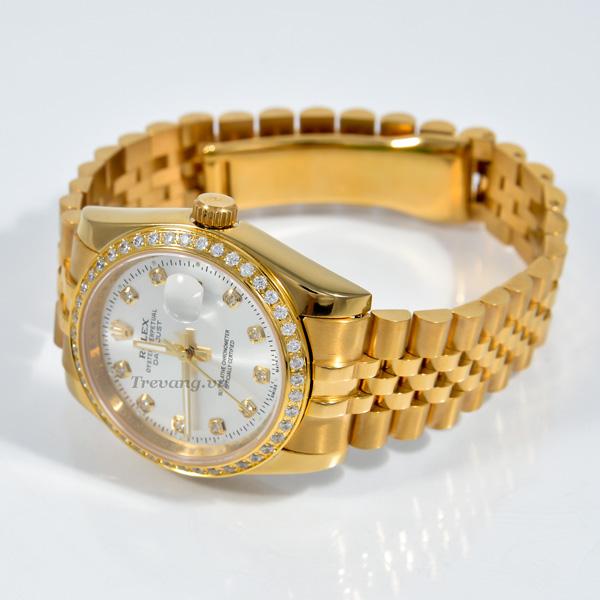 Đồng hồ Rolex nam Datejust full gold chốt gập thời trang