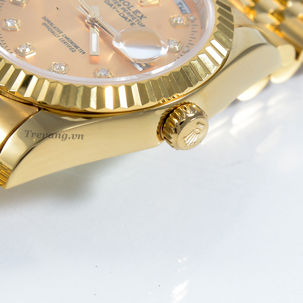 Đồng hồ Rolex nam Datejust Full Gold Day Date núm chỉnh