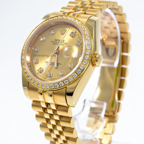 Đồng hồ Rolex nam Datejust full gold mặt vàng