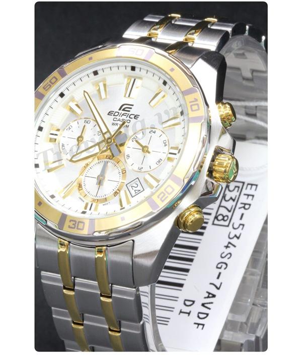 Đồng hồ Casio nam EFR-534SG-7AV mặt trắng