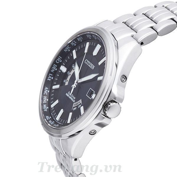 Đồng hồ Citizen CB0011-51L núm chỉnh giờ