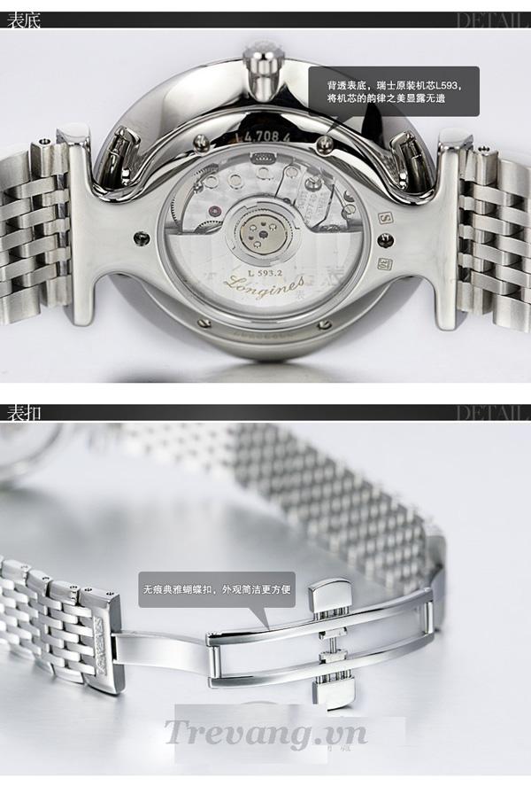 Đồng hồ Longines nam L4.708.4.11.6 đơn giản, đẹp mắt