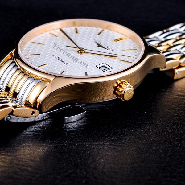 Đồng hồ Longines nam L4.760.2 núm chỉnh giờ